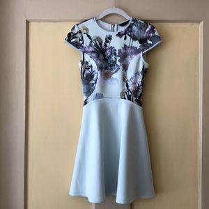 Blue floral Ted Baker dress